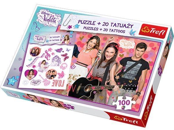 TREFL Puzzle s tetováním Violetta 100 dílků