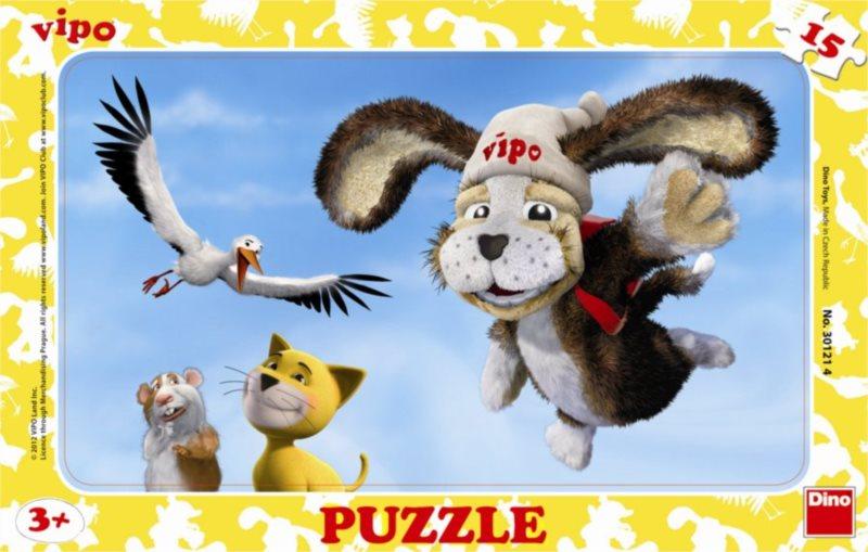 DINO Puzzle Vipo s přáteli 15 dílků