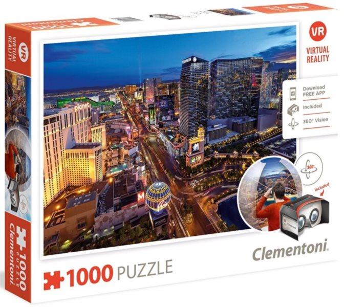 CLEMENTONI Virtual Reality puzzle Las Vegas 1000 dílků