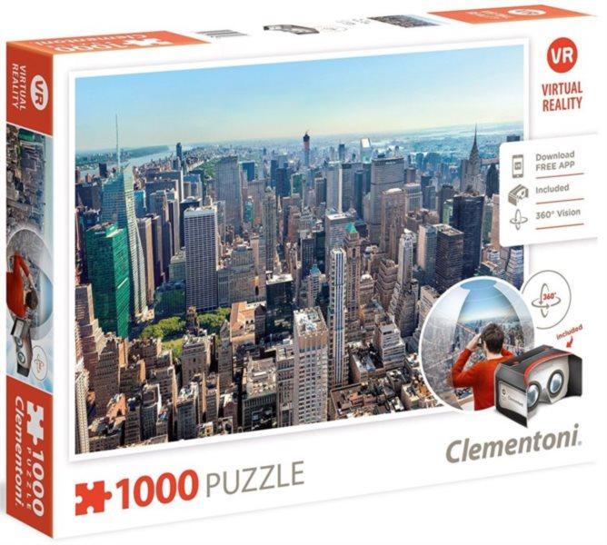 CLEMENTONI Virtual Reality puzzle New York 1000 dílků
