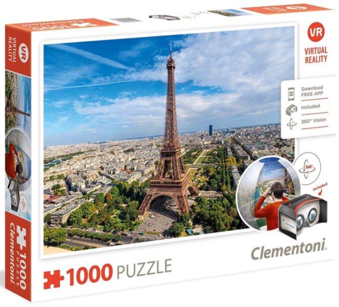 CLEMENTONI Virtual Reality puzzle Paříž 1000 dílků