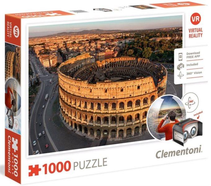 CLEMENTONI Virtual Reality puzzle Řím 1000 dílků