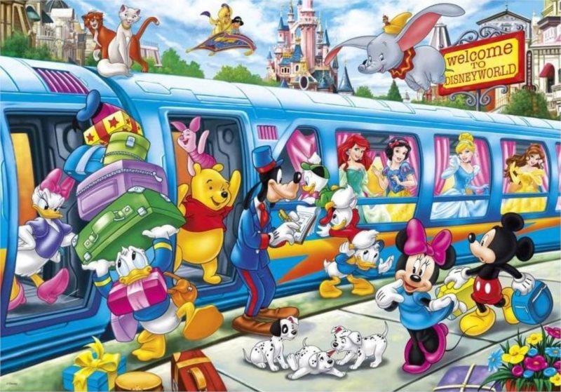 CLEMENTONI Puzzle Vítej ve světě Disney MAXI 104 dílků