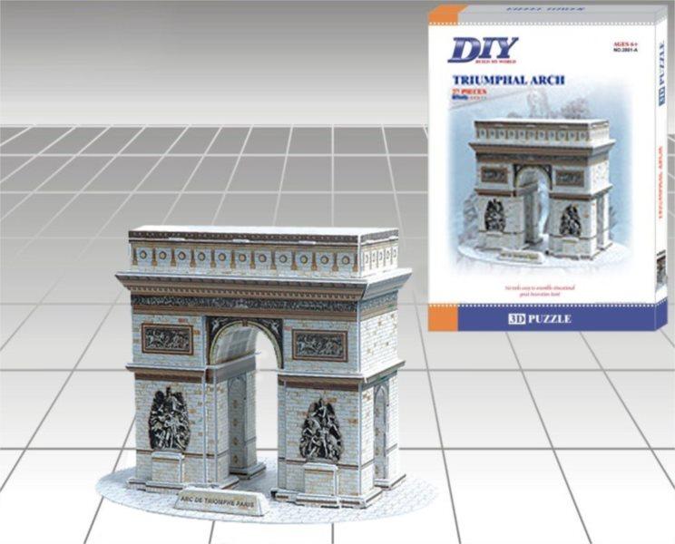 DIY 3D puzzle Vítězný oblouk 27 dílků