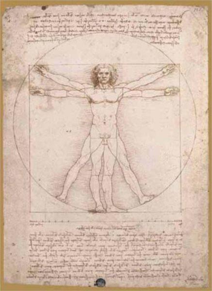 Puzzle EDITIONS RICORDI 1000 dílků - Vitruvianský muž - proporce lidské postavy