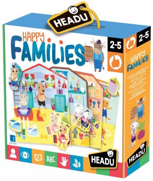 HEADU Vkládací domečky Veselé zvířecí rodiny