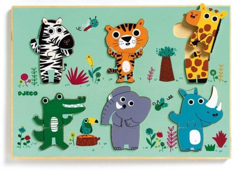 DJECO Vkládací puzzle Zvířátka ze Zoo