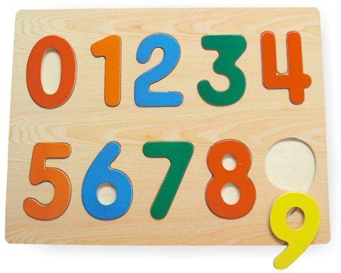 Dřevěná vkládačka - Vkládačka Číslice 0-9
