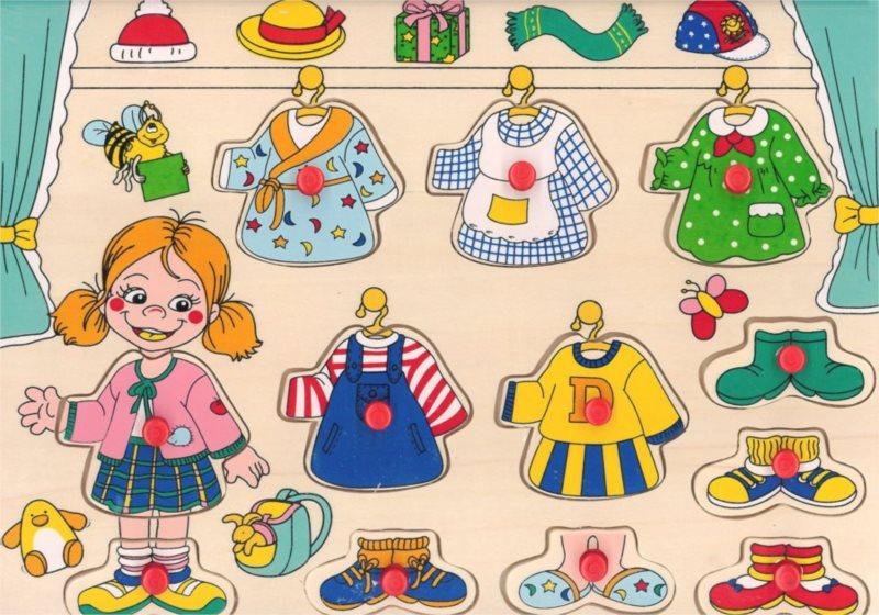 TOP BRIGHT Vkládačka Oblečení pro holčičku