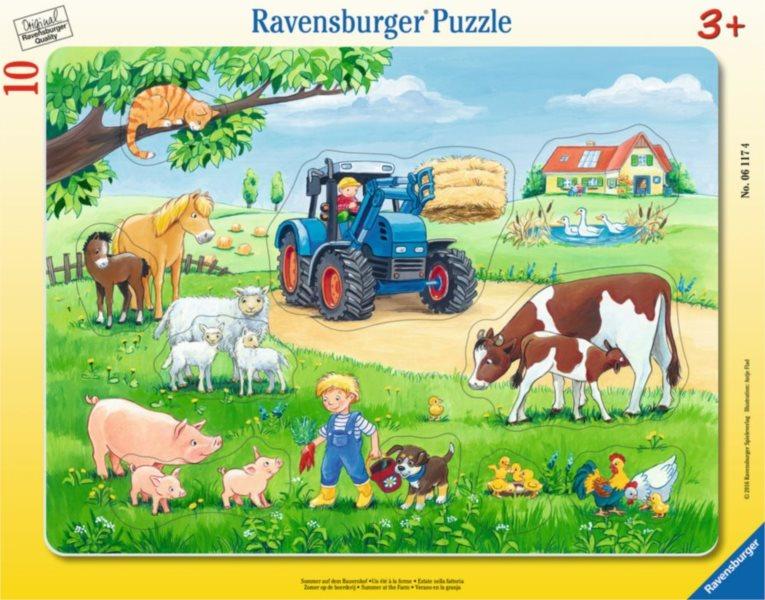 Deskové puzzle RAVENSBURGER 06117 Léto na farmě 10 dílků