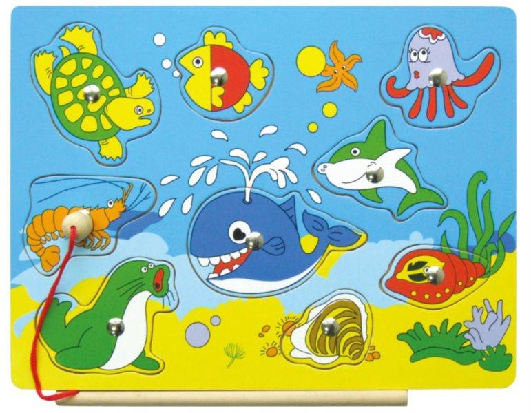 STUDO WOOD Vkládačka magnetická - Moře