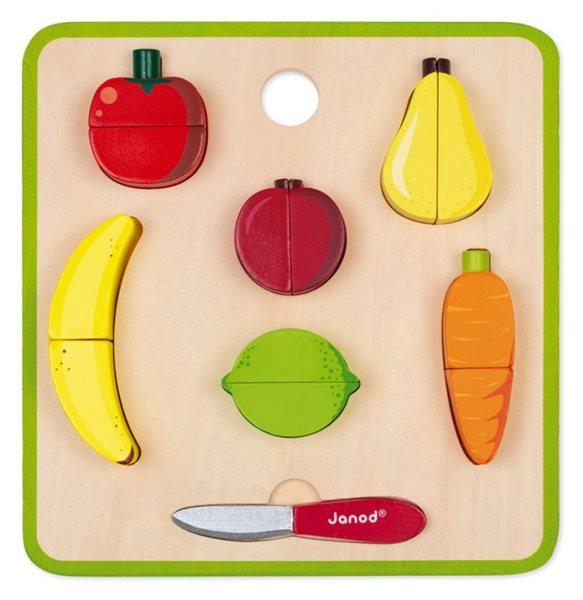 JANOD Vkládačka Magnetické ovoce a zelenina