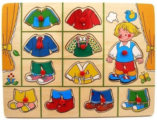 PLAYME Vkládačka Oblečení pro chlapečka