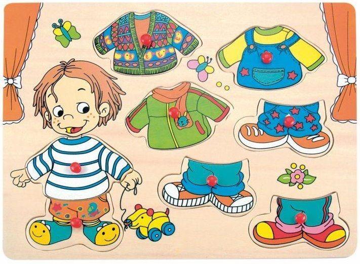 WOODY, Vkládačka Oblékání - chlapeček Sebastian