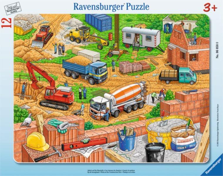 RAVENSBURGER Vkládačka Práce na staveništi 12 dílků