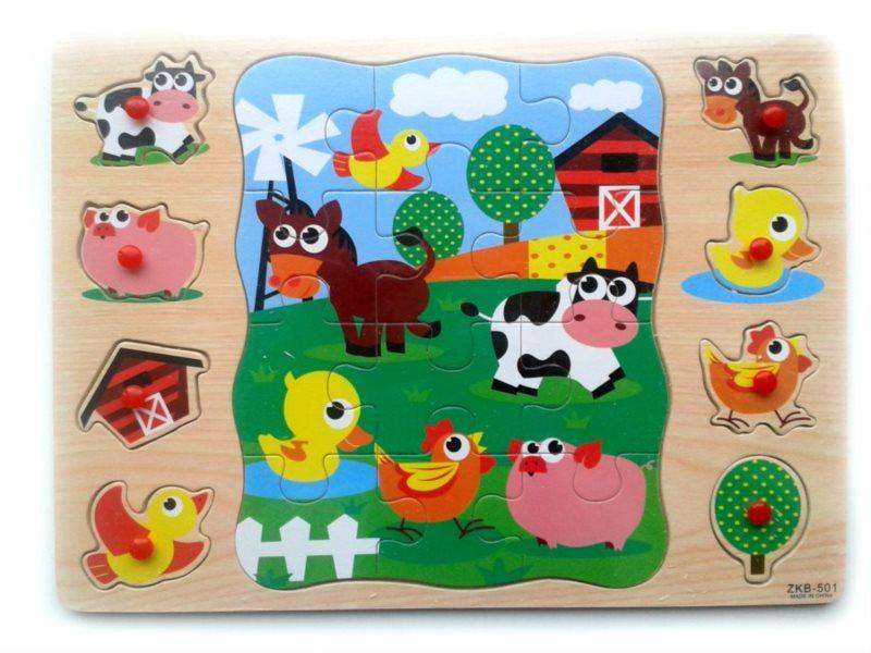 Vkládačka + Puzzle: Farma