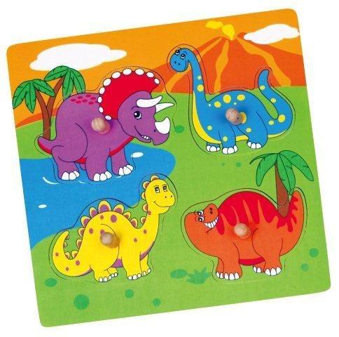 STUDO WOOD Vkládačka Veselí Dinosauři