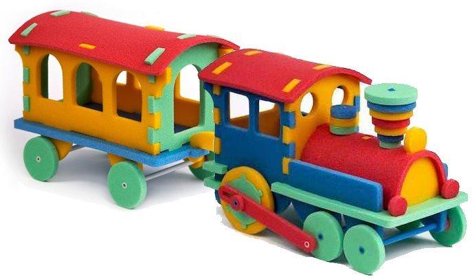 MALÝ GÉNIUS 3D puzzle Vláček s vagónem 64 dílků