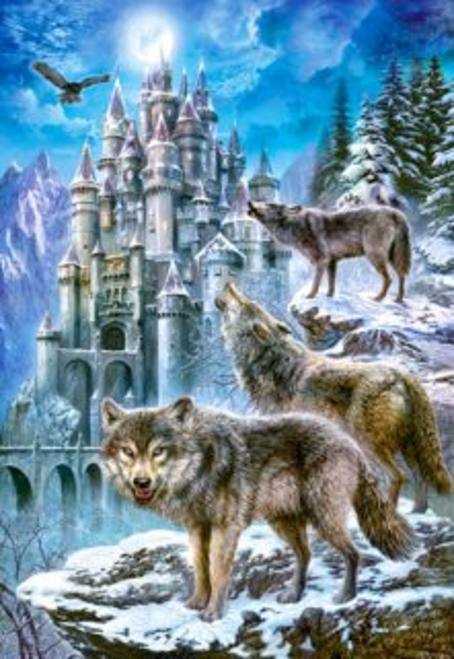 CASTORLAND Puzzle Vlci u zámku 1500 dílků