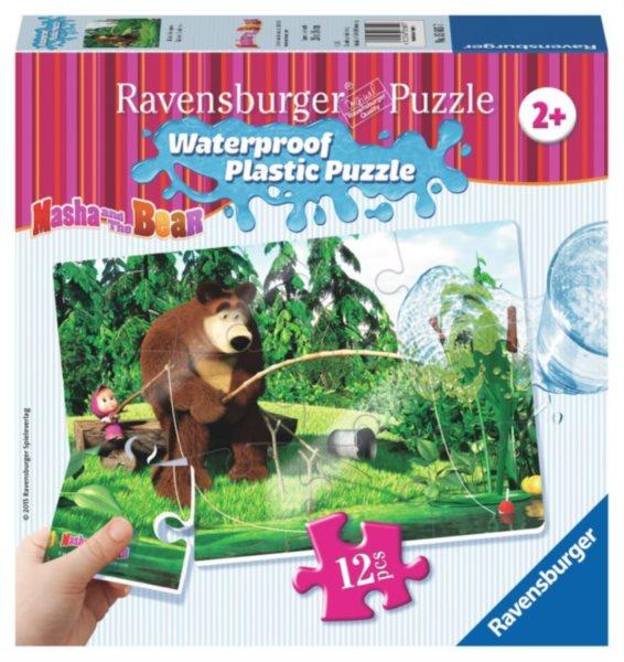 RAVENSBURGER Voděodolné puzzle Máša a medvěd: Na rybách 12 dílků