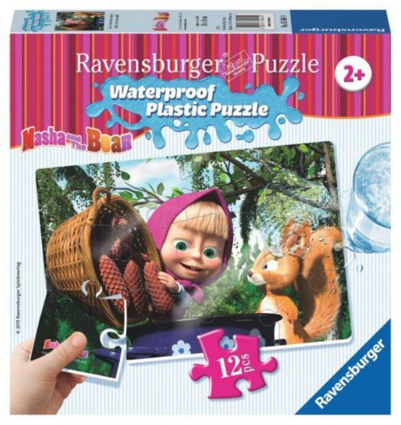 RAVENSBURGER Voděodolné puzzle Máša a medvěd: V lese 12 dílků