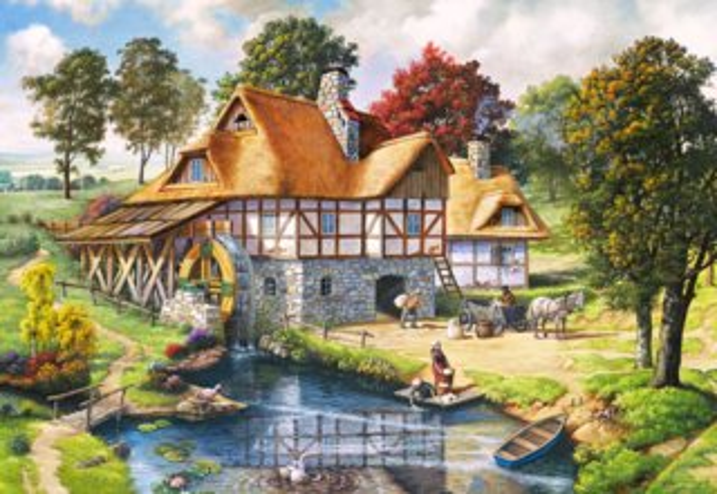 CASTORLAND Puzzle Vodní mlýn 2000 dílků