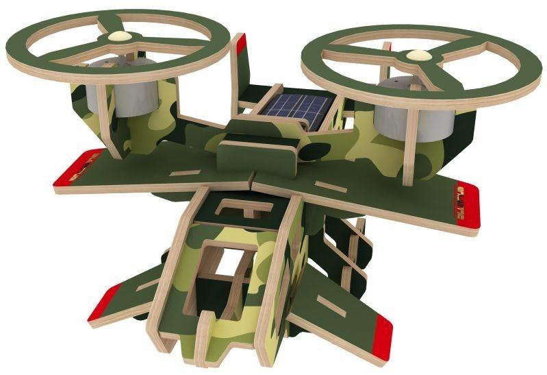 3D dřevěné puzzle ROBOTIME Solární letadlo Avatar barevné P350S