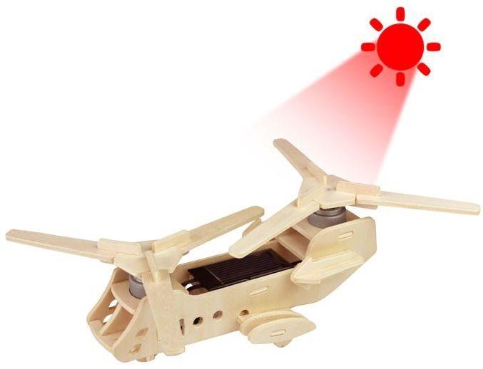 ROBOTIME 3D puzzle Vojenský vrtulník CH47 solární