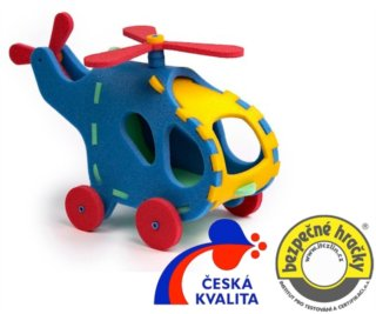 MALÝ GÉNIUS 3D puzzle Vrtulník 3D 23 dílků