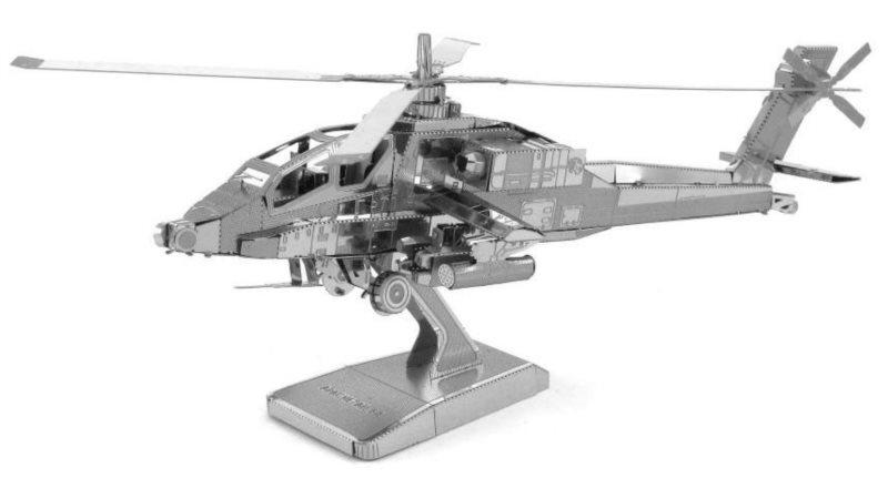 3D kovové puzzle METAL EARTH Vrtulník AH-64 Apache