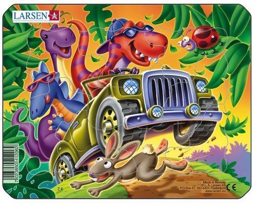 Dětské puzzle LARSEN 9 dílků - Výlet v autě