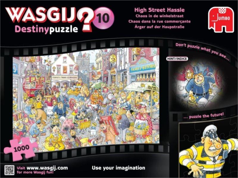 JUMBO Puzzle WASGIJ Destiny 10: Zmatek na hlavní třídě - 1000 dílků
