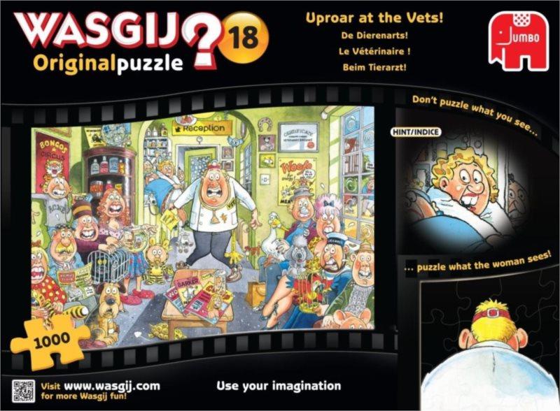 JUMBO Puzzle WASGIJ 18: Veterinární ordinace - 1000 dílků
