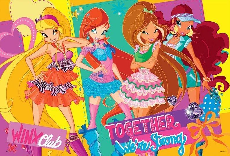 Puzzle pro děti TREFL 100 dílků - Winx Club: Přítelkyně
