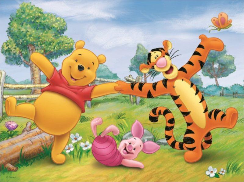 Dětské puzzle DINO 24 dílků - Zábava s Medvídkem Pú