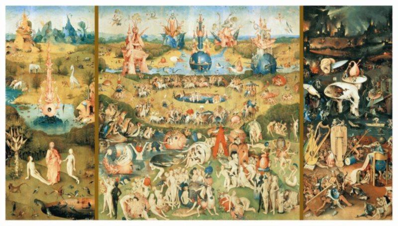 Puzzle EDUCA 9000 dílků - H.Bosh, Zahrada pozemských rozkoší