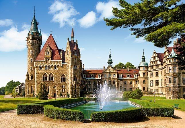 Puzzle CASTORLAND 1500 dílků - Zámek Moszna, Polsko