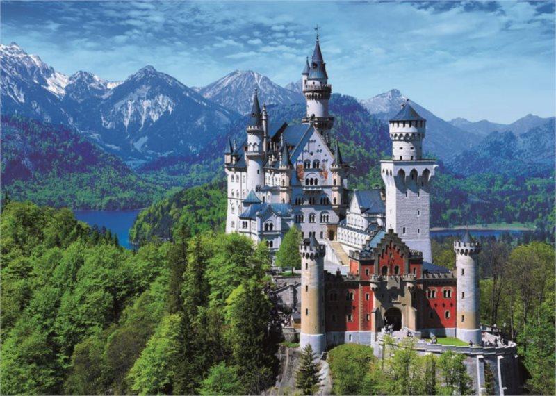 Puzzle DINO 1000 dílků - Zámek Neuschwanstein