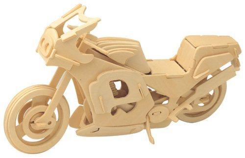 WOODEN TOY , WCK 3D puzzle Závodní motorka