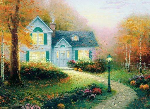 Puzzle SCHMIDT 1000 dílků - Thomas Kinkade, Žehnání podzimu