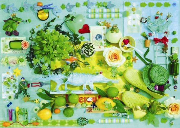 SCHMIDT Puzzle Zelená kompozice 1000 dílků
