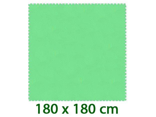 MALÝ GÉNIUS Zelený pěnový koberec XL 8mm (59,5x59,5)