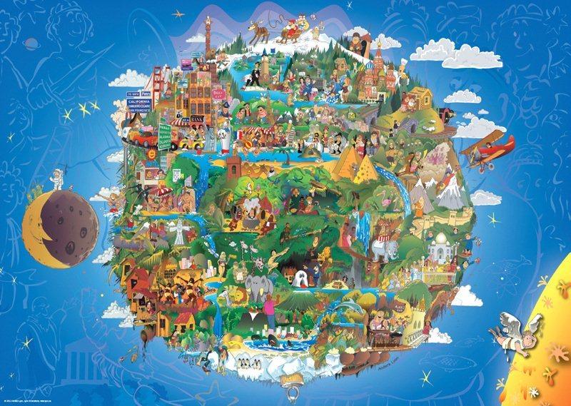 HEYE Puzzle Země 1000 dílků