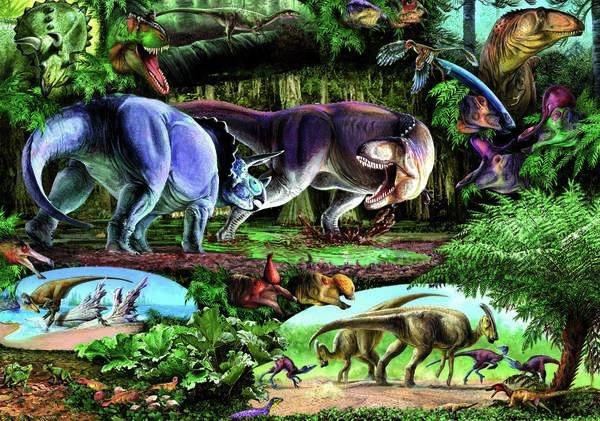 Puzzle DINO 500 dílků - Země dinosaurů