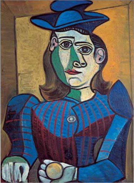 Puzzle EDITIONS RICORDI 1000 dílků - Picasso, Žena v modrém klobouku