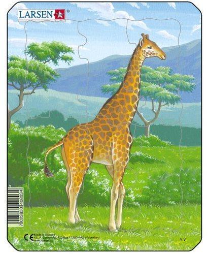 LARSEN Puzzle Žirafa 12 dílků