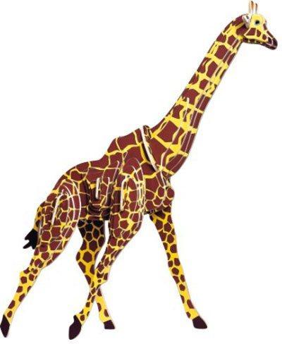 WOODEN TOY , WCK 3D puzzle Žirafa barevná