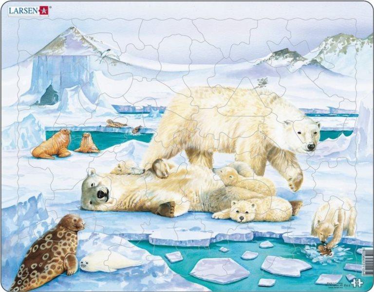 LARSEN Puzzle Život na severním pólu 53 dílků