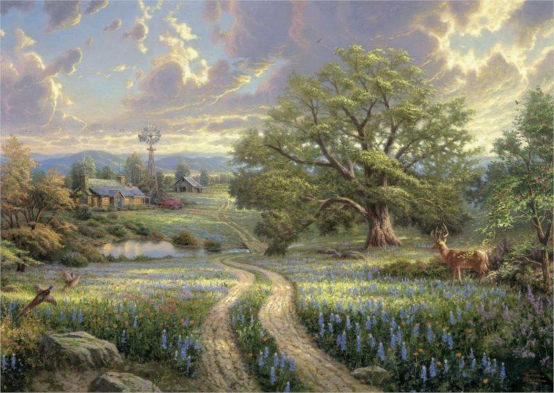 Puzzle SCHMIDT 1000 dílků - Thomas Kinkade, Život na venkově