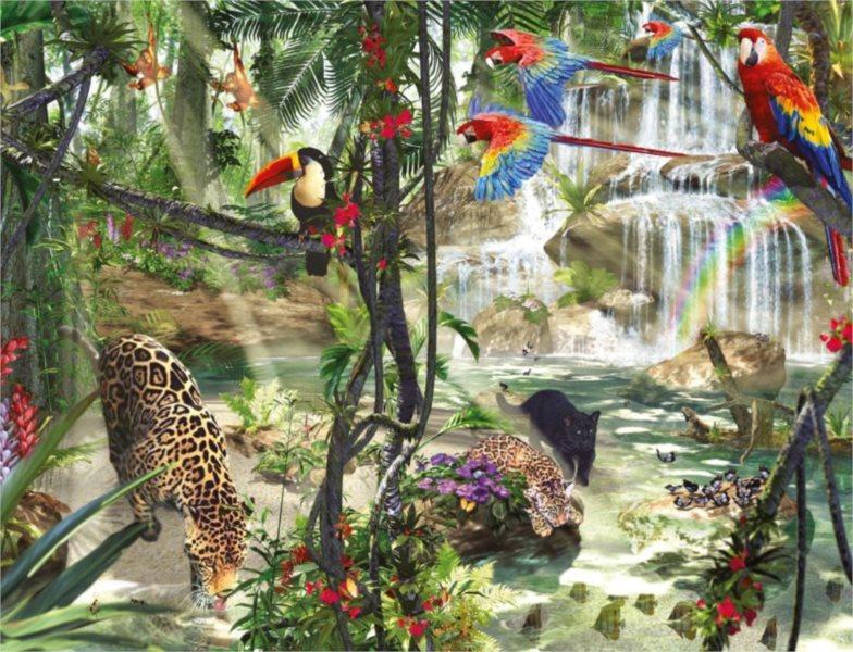 RAVENSBURGER Puzzle Život v džungli 2000 dílků